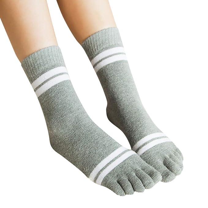 Amazon.com: Calcetines de dedo multicolor para mujer con ...