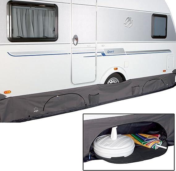 Siehe Beschreibung Wohnwagen Bodenschürze Deluxe Mit Großen Taschen Von 4 6 M Sport Freizeit
