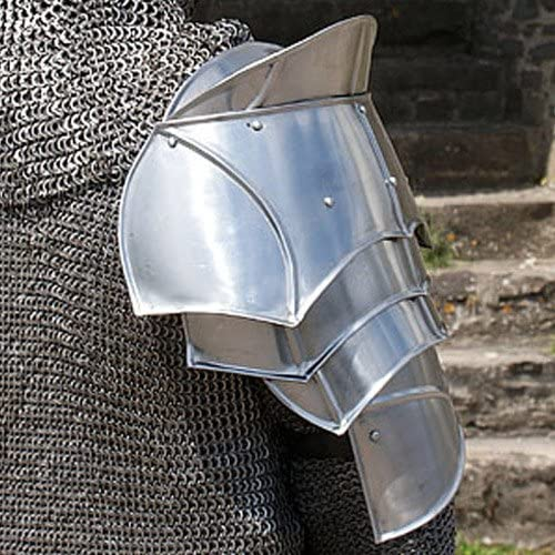 Steel Warrior Pauldron Medieval Shoulder Armor Set 20g