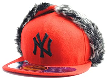 44ee18e8985 New York NY Yankees MLB Knock Cold DogEar Red New Era Kappe 59FIFTY Fitted Baseball  Cap