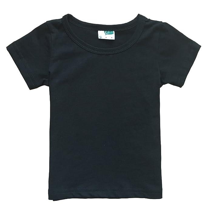 7d3d7e82 Amazon.com: Little Girls' Short Sleeve Crew Neck T-Shirt: Clothing