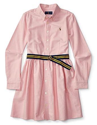 fb6cb9987a46 Amazon.com  Ralph Lauren Girls Cotton Oxford Shirtdress (8