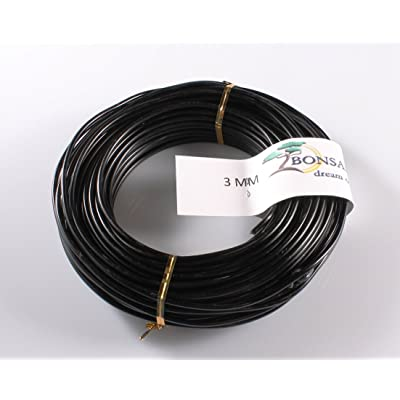 3 MM 500 GRAM BLACK ANODIZED ALUMINIUM BONSAI TRAINING WIRE8: Garden & Outdoor