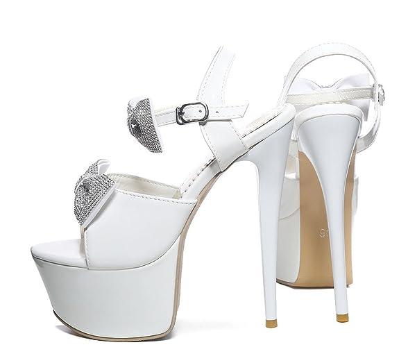YE Les Beaux Sandales de Femme avec Talons Hauts Aiguille de 16cm et le Plateforme de 5.5CM jlSrw2Cx