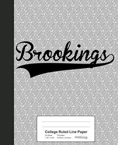 Brookings Papers - College Ruled Line Paper: BROOKINGS Notebook (Weezag College Ruled Line Paper Notebook)