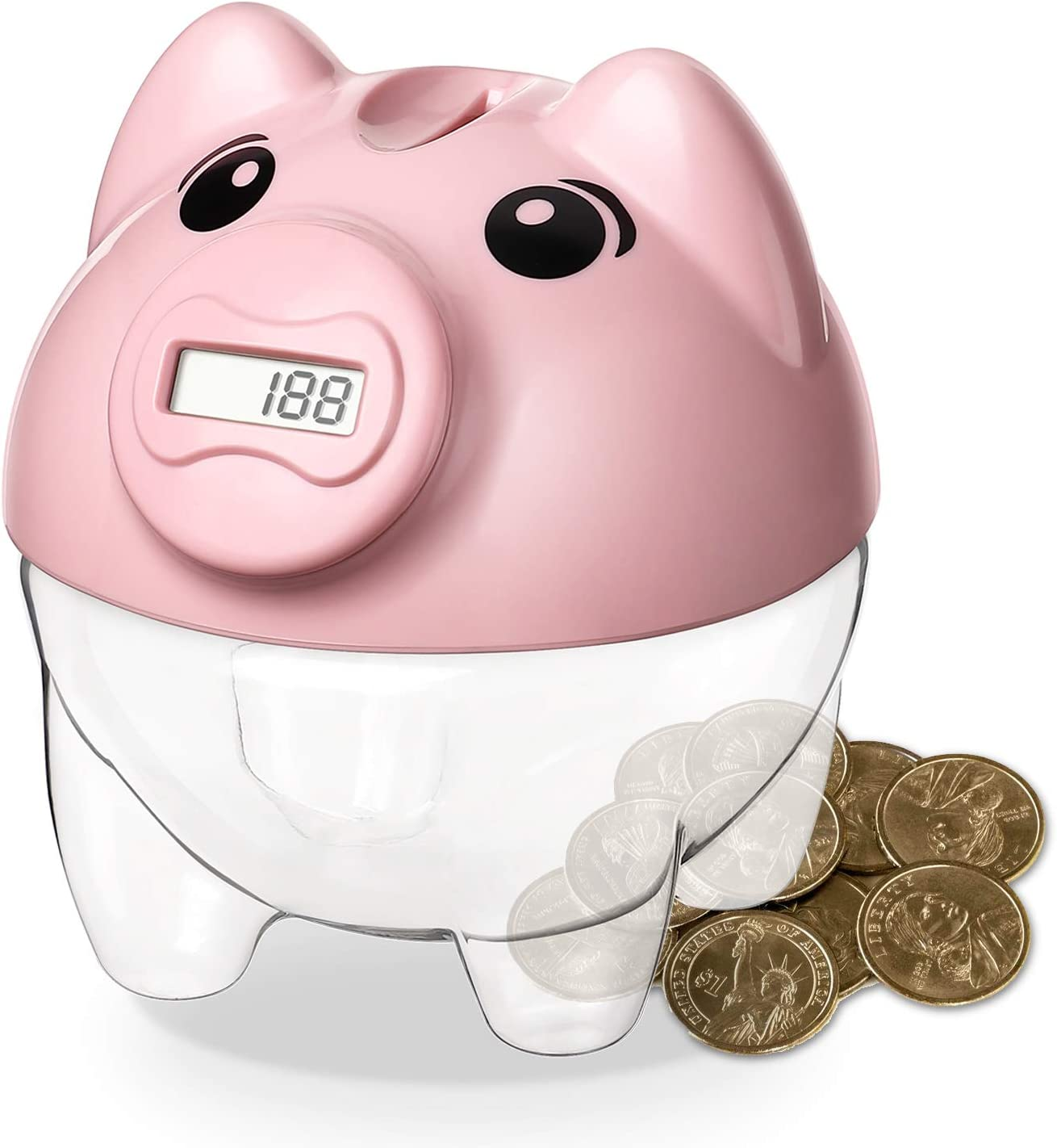 Younion Piggy Bank for Kids, Digital Counting Coin Bank
