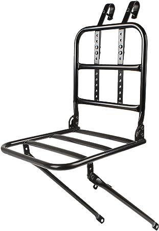 aus Europa P4B VR Gep/äcktr/äger f/ür vorne zur Montage am Vorderrad aus Stahl schwarz lackiert mit hochwertigem Buchenholz