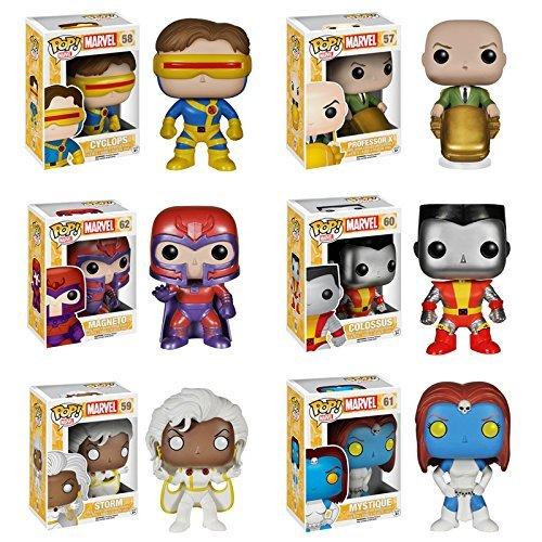 Pop! Marvel: X-Men: Colossus, Cyclops, Professor X, Storm, Mystique & Magneto - Set of 6 Vinyl Figures