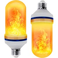 CPPSLEE - LED Flame Effect Light Bulb - 4 Modes with Upside Down Effect -2 Pack E26 Base LED Bulb - Flame Bulbs for Festival/Hotel/Bar Party Decoration