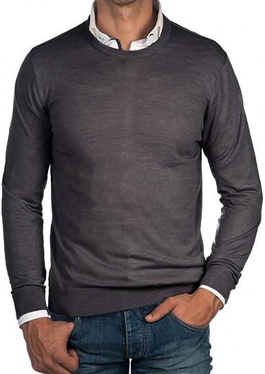New Mens Designer Slim Fit tShirt Jumper Short Sleeve Ribbed Knit Top S M L XL