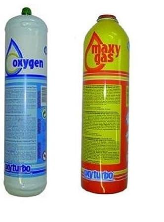 Oxyturbo 3S cilindros de gas y oxígeno de repuesto recambio Turbo Set 90 kit de soldadura: Amazon.es: Bricolaje y herramientas