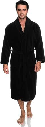 TowelSelections Men's Robe, Turkish Cotton Terry Velour Bathrobe