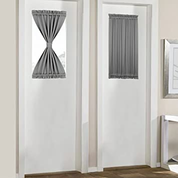 Amazoncom Panovous French Door Curtains Set Of 2 Small Front Door
