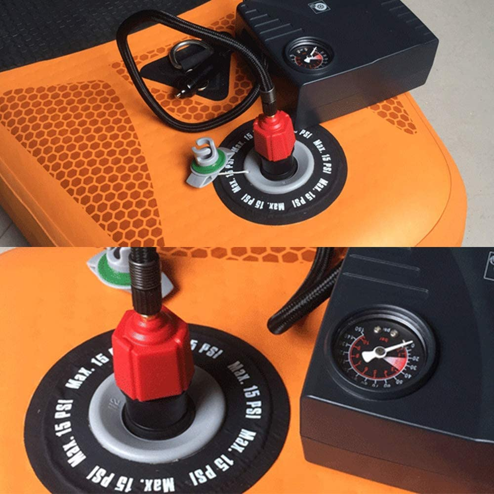 Alloy Inflatable SUP Air Pump Converter Accessories for Valves Kayak Inflatable Raft Rubber Boat Raft Sofa Tent ZN Multifunction Air Pump Valve Adapter with 4 Nozzles