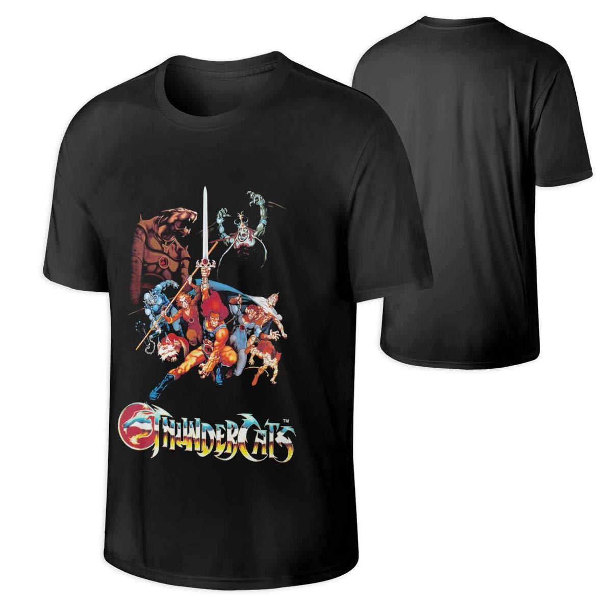 Man's Cool Thundercats Music Band Anime Game Concert Summer Short Sleeves T Shirt