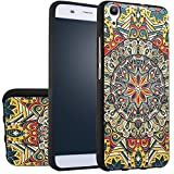 MOONCASE Huawei Y6 Case, [Totem Flower] 3D Embossed Painting Series Protective Case Cover for Huawei Y6 / Honor 4A Anti-Slip Soft TPU Gel Case