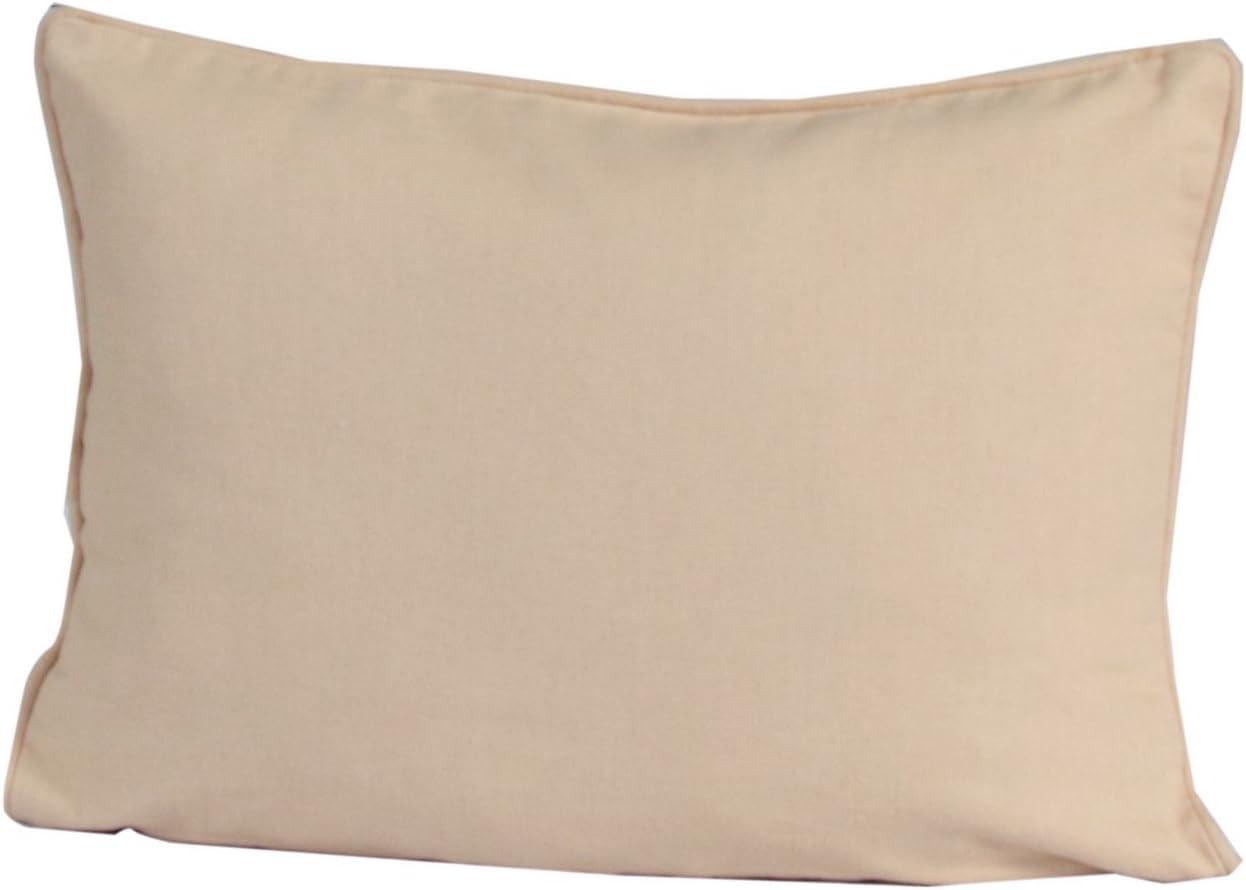 Homescapes 100% Cotton Plain Beige Cushion Cover 30 x 50