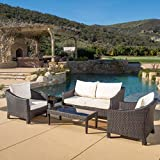 Caspian 5 Piece Outdoor Wicker Furniture Patio Chat Set Review