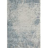 Momeni Rugs LOFT0LO-02BLU2030 Loft Collection, Contemporary Area Rug, 2 x 3, Blue