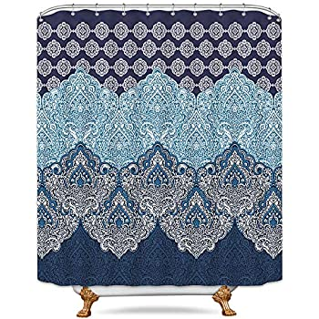 Amazon Com Lush Decor Boho Medallion Shower Curtain 72
