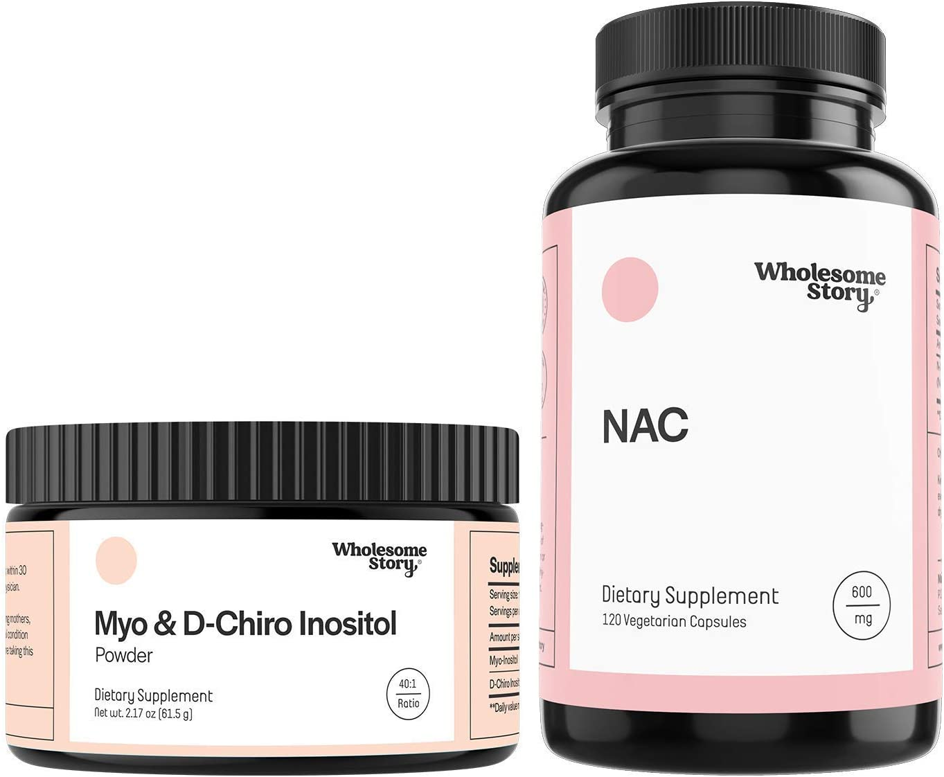Myo & D-Chiro Inositol Powder + NAC | Hormone Balance, Healthy Ovarian Function, Fertility & Mucolytic Support | Vegan Friendly