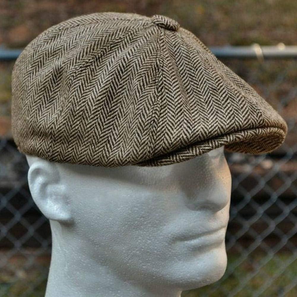in lana stile retr/ò Berretto basco da uomo in stile baretto con cappello in feltro UKKD