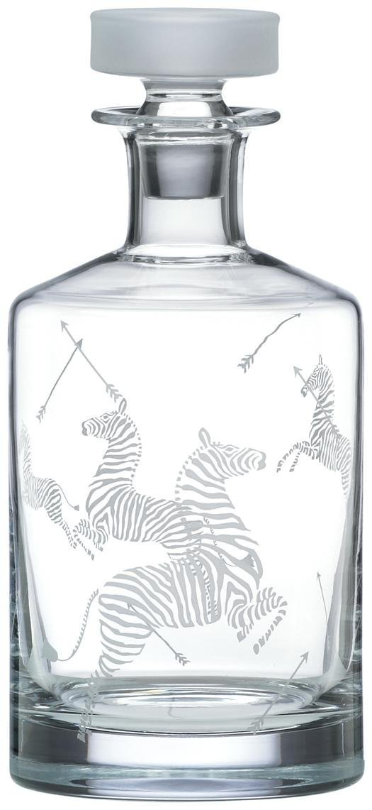 Lenox Scalamandre Zebras Decanter
