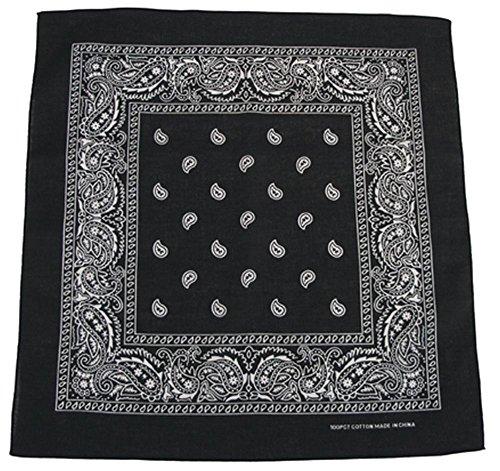 Bandana Biker Kopftuch schwarz-weiß Schwarz