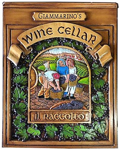Italian Wine Cellar Personalized Plaque-large