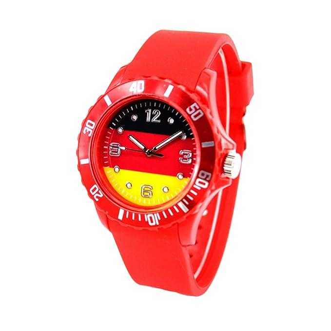 Reloj con la bandera de Alemania con pulsera de Silicona