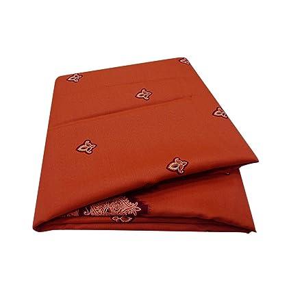 PEEGLI Sari Indio Marrón De La Vendimia Caída De Paisley Diseño del Abrigo del Velo Bollywood