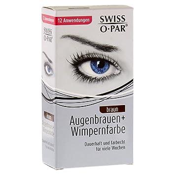 3661b8809ce Amazon.com : Swiss O Par Eyelash and Brow Dye Tint Color Kit (Brown) :  Beauty