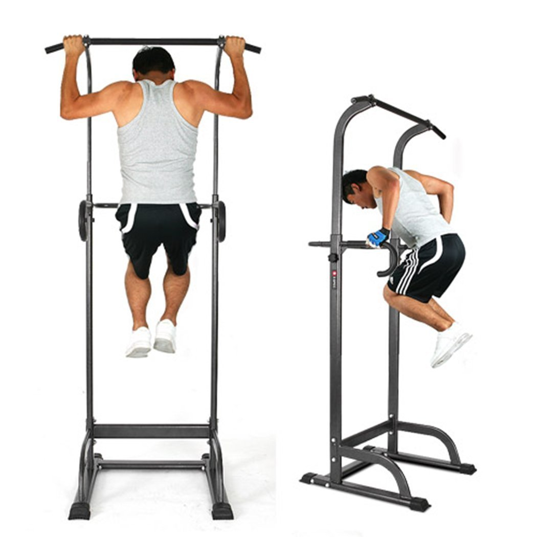 Oanon Full Body Power Tower Adjustable Power Tower Strength Power Tower Fitness Workout Station(Black) by Oanon