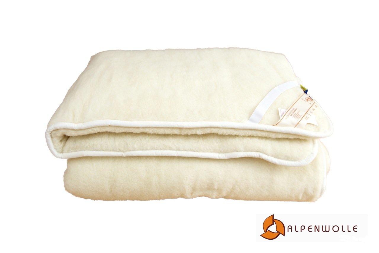 Alpenwolle Unterbett, Matratzenauflage, Bettauflage, Schonbezug 100% Wolle Wolle Wolle (160x200) 793ef3