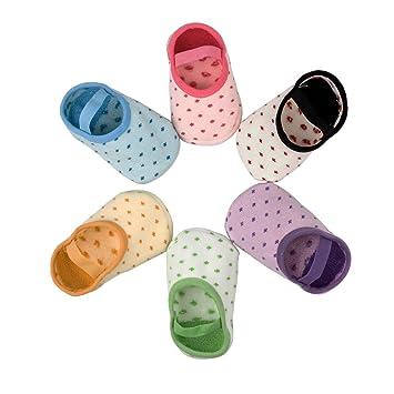 Yober Calcetines Antideslizantes para Bebes y Niños 8-36 Meses 6 Pares Calcetines de Colores: Amazon.es: Bebé