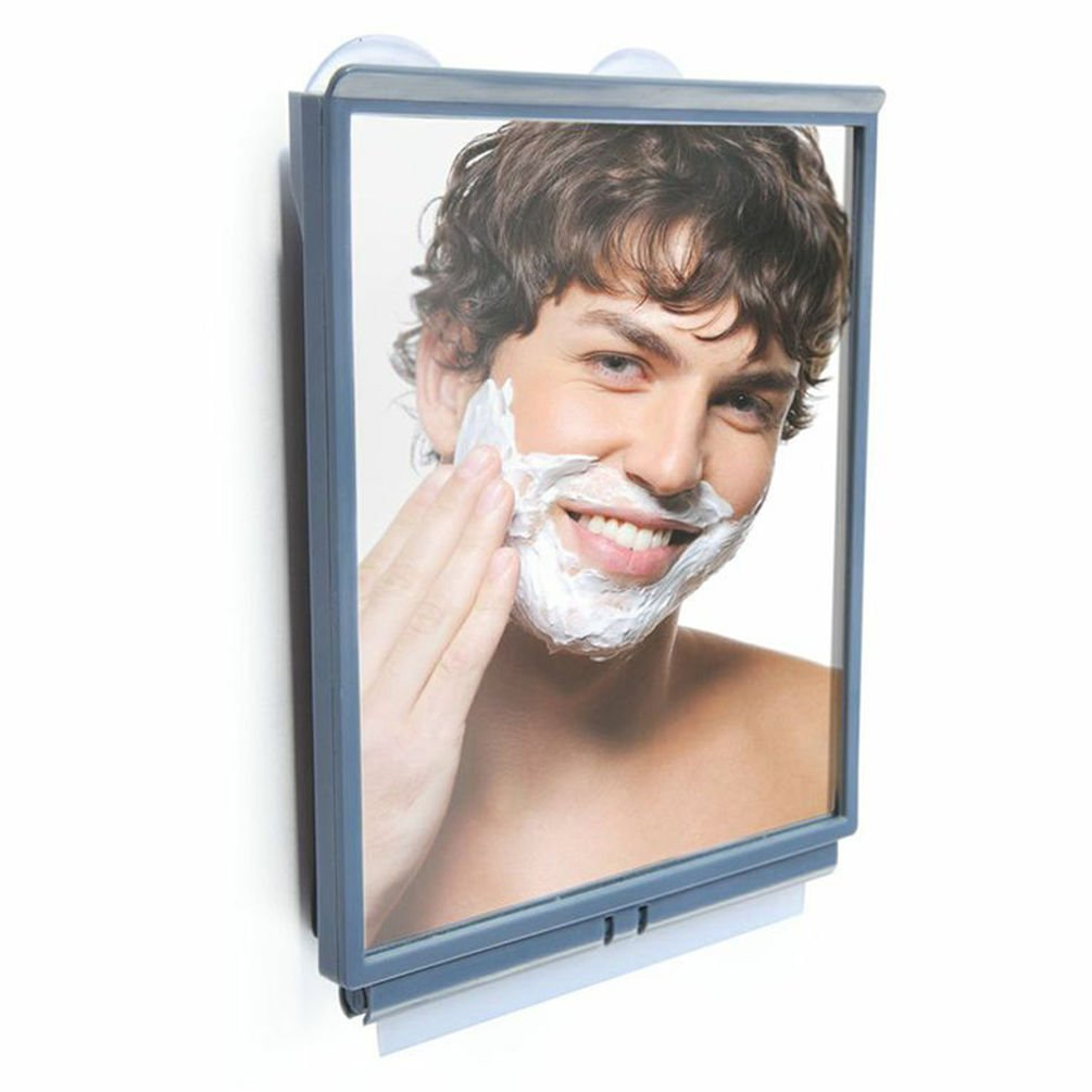 Fogless Shower Mirror with Squeegee by ToiletTree Products. Guaranteed to NEVER fog. TTP-TM-01