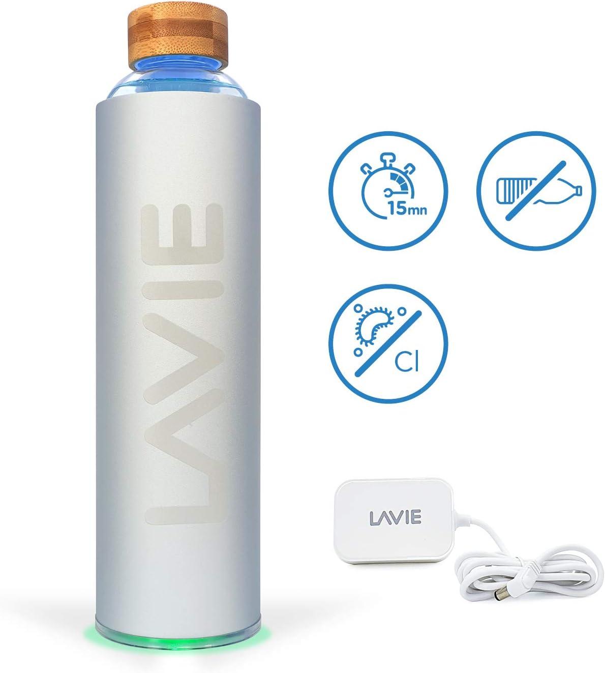 LaVie Pure es un Innovador Purificador de Agua con luz UVA Que Funciona Sin Consumibles. Transforme su Agua del Grifo en Agua Pura y Deliciosa en 15 Minutos. Capacidad 1 L: Amazon.es: