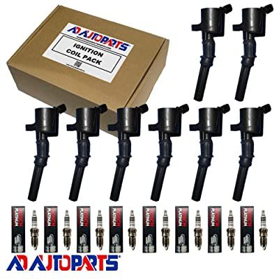 AD Auto Parts Ignition Coil Pack - 8 7805-1151 Ignition Coils + 8 4305 Spark Plugs For 2001-03 Ford F-150: Automotive