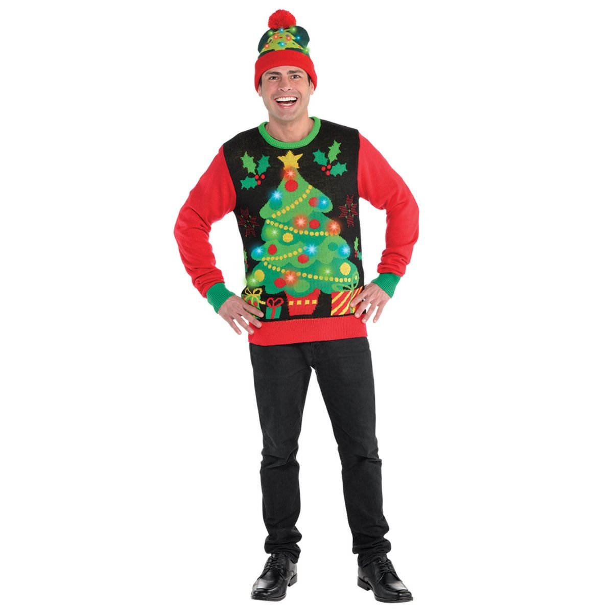 Amscan Light-Up Ugly Christmas Sweater - S/M