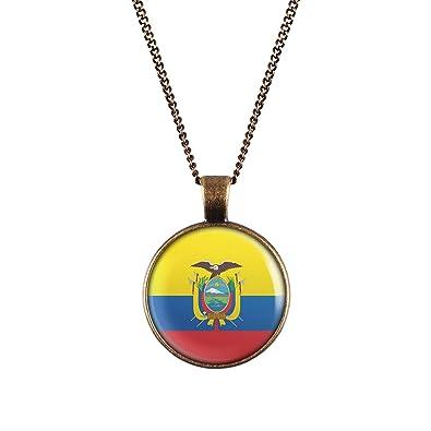Mylery Collar con Motivo Bandera Quito Ecuador Bronce 28mm ...