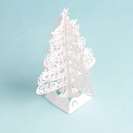 Amazon paper spiritz snowflake tree 2018 pop up holiday paper spiritz snowflake tree 2018 pop up holiday greeting card 3d laser cut christmas card m4hsunfo