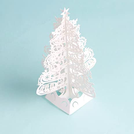 paper spiritz snowflake tree 2018 pop up holiday greeting card 3d laser cut christmas card - Amazon Christmas Cards