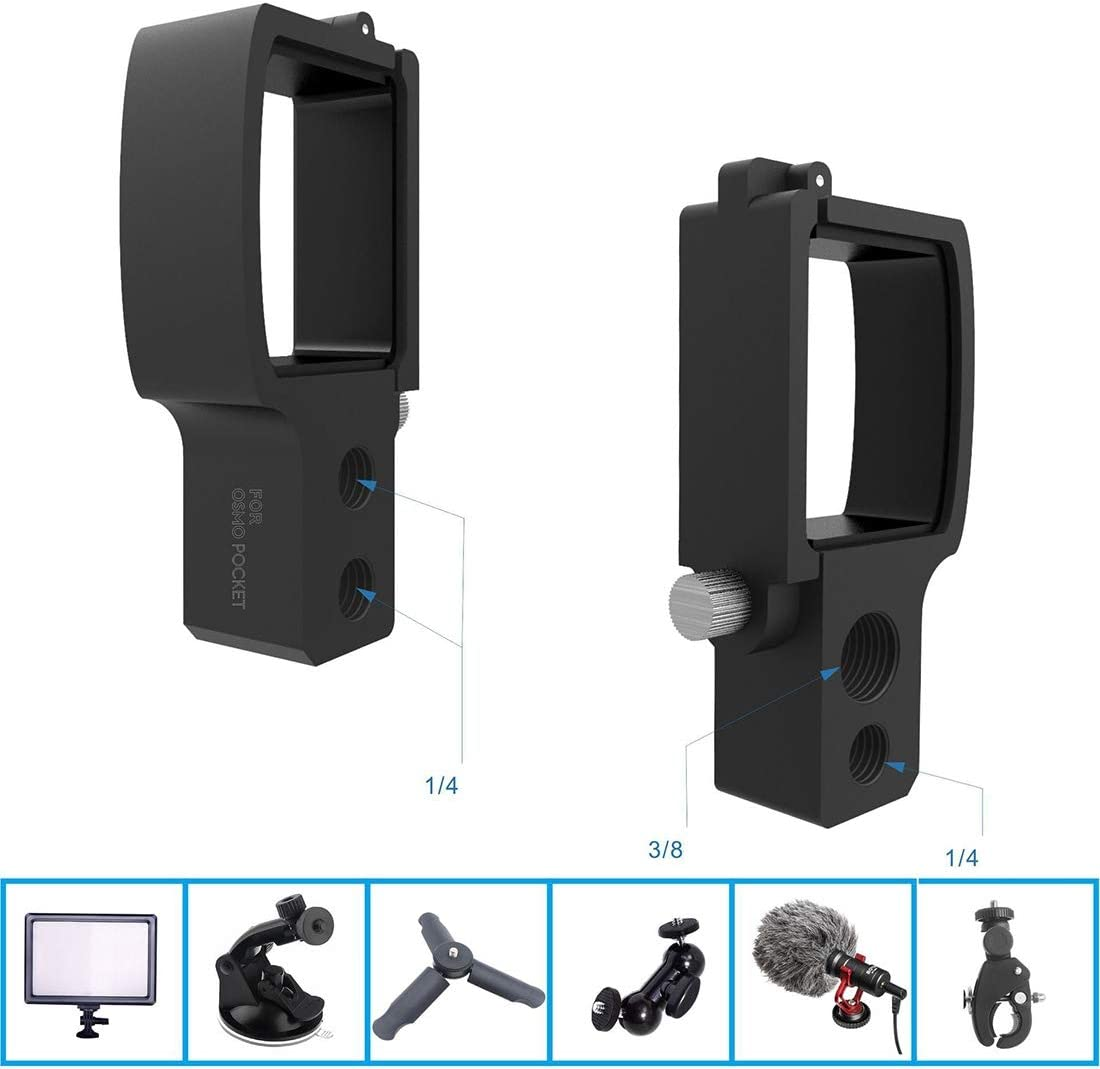XIAOMIN Expand Module Adapter with 1//4 Inches and 3//8 Inches Interface for DJI OSMO Pocket Premium Material