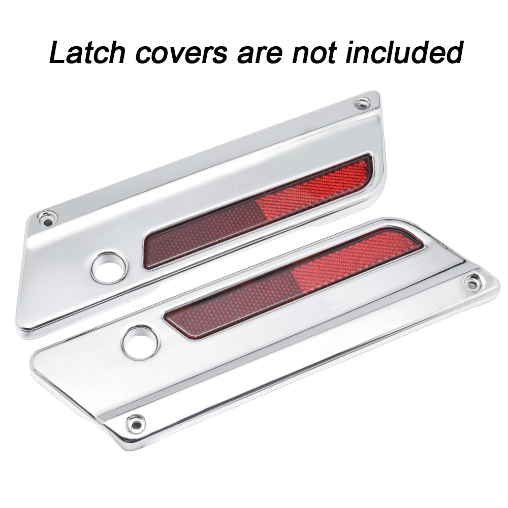 Pair of Red Reflectors for Harley Latch Covers Saddlebags Side Visibility 97-13 Red