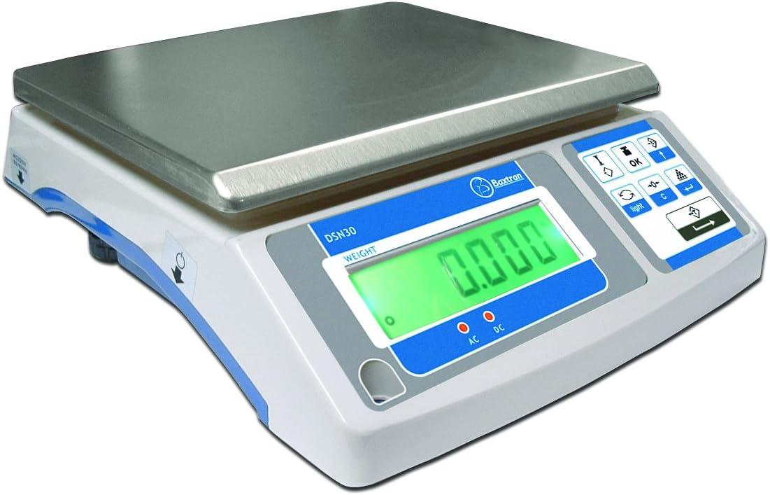 15kg x 0,5g Balanza Digital Industrial Baxtran DSN 29x23cm