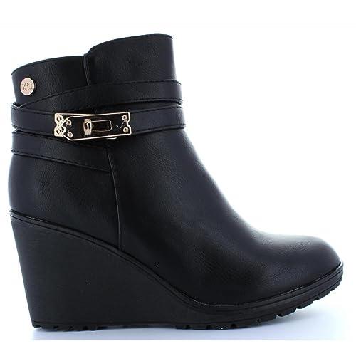 XTI Botines de Mujer 28720 C Negro Talla 39: Amazon.es: Zapatos y complementos