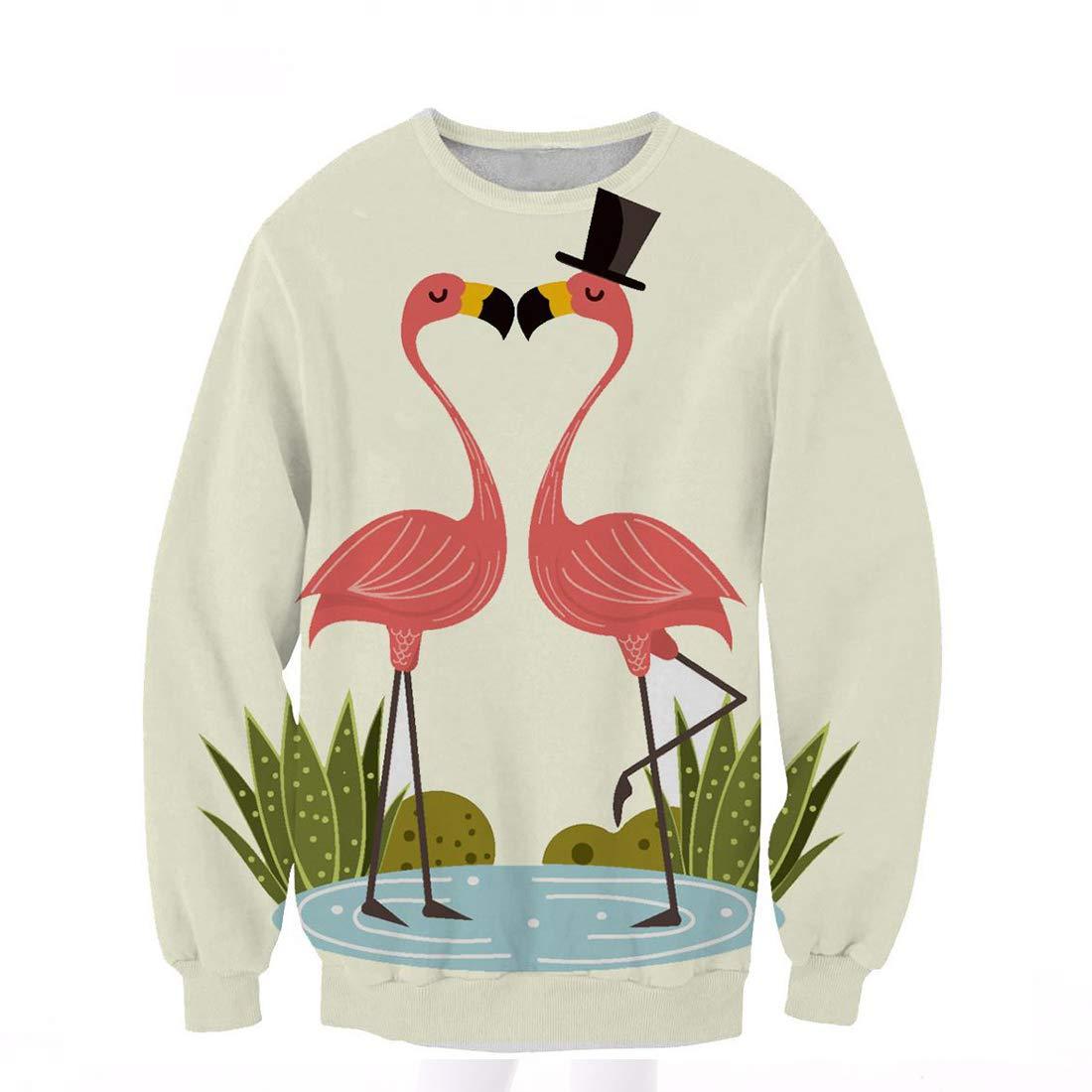 Pullcover Fashion Sweater Warm Hoodie Hip Hop Autumn Winter Jacket Coat for Kids FamyFirst Sweatshirt Printed Flamingo Long Sleeve Girl Boy