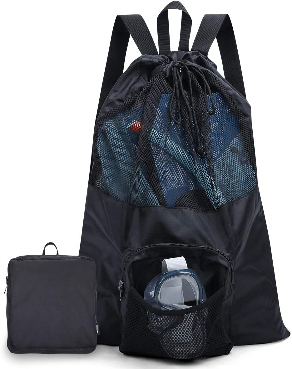 equipo de esn/órquel equipo de nataci/ón accesorios de playa Eono by bolsa de cord/ón de malla ultraligera para gimnasio Bolsa de malla deportiva con capacidad mejorada de 35 litros y dise/ño ventilado
