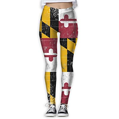 Oiybab Sofas Distressed Flag Of Maryland Vintage Women Full-Length Yoga Pants Fitness Workout Leggings Sizeykey