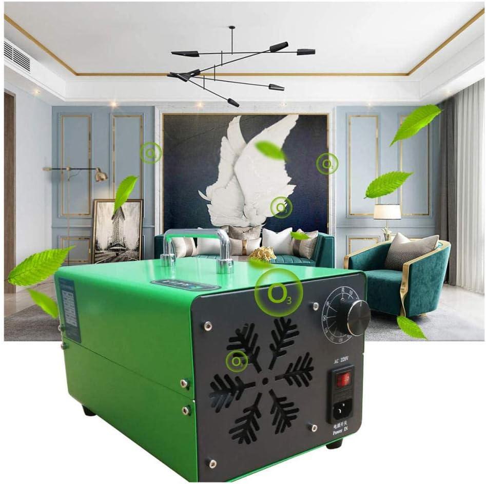 Generador de ozono Esterilizador de purificador de Aire, Profesional de Alta Capacidad Industria Comercial, Esterilizador de Desodorante O3 para Habitaciones Humo Coches y Mascotas-Verde_40000mg / h: Amazon.es: Hogar